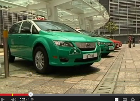 HK not London BYD e6 Taxi launch May 2013