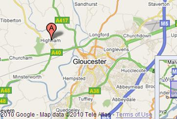 Highnam Google Map - Glos Motor Show