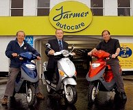 Tom Farmer with ScootElectric Directors